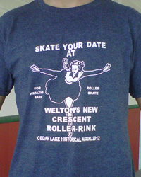 Skate Your Date t-shirt (gray)